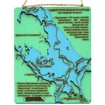 Подарочный вымпел с картой рыбинского водохранилища