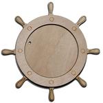 Деревянная заготовка для магнита круглая 72 мм, основное.