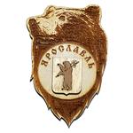 Магнит с медведем и гербом Ярославля