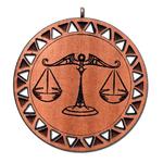 Подвеска знак зодиака Весы из красного дерева