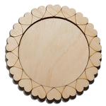 Деревянная заготовка для магнита Круглая с рисунком №7