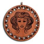 Подвеска знак зодиака Дева из красного дерева