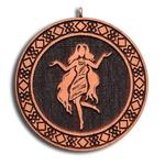 Подвеска знак зодиака Дева из красного дерева (темная)