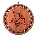 Подвеска знак зодиака Овен из красного дерева