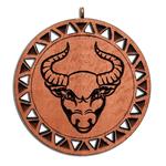 Подвеска знак зодиака Телец из красного дерева