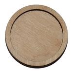 Деревянная заготовка для магнита круглая 40 мм, основное.