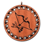 Брелок знак зодиака Стрелец из красного дерева