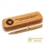 Именная ручка с гравировкой из бамбука