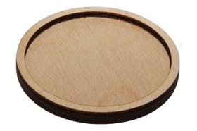 Деревянная заготовка для магнита круглая 72 мм, дополнительное.