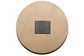 Деревянная заготовка для магнита круглая 72 мм, обратная сторона.