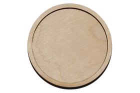 Деревянная заготовка для магнита круглая 72 мм
