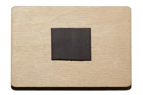 Прямоугольная заготовка для магнит на холодильник, обратная сторона