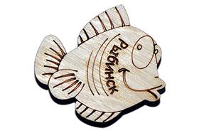 Магнит на холодильник в виде рыбки