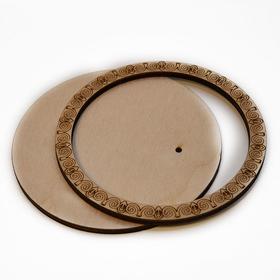 Деревянная заготовка для магнита №4, комплект