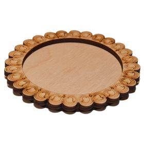Деревянная заготовка для магнита №1, сбоку