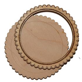 Деревянная заготовка для магнита №2, комплект