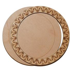 Деревянная заготовка для магнита №3, комплект