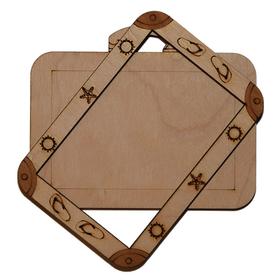 Деревянная заготовка для магнита чемодан, комплект