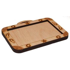 Деревянная заготовка для магнита чемодан, сбоку 2