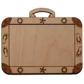 Деревянная заготовка для магнита чемодан, основное.
