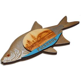 Магнит на холодильник Чудо-Юдо рыба кит из рыбинска вид сбоку