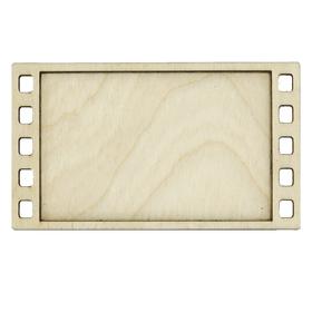 Деревянная заготовка для магнита, горизонтальный фотокадр