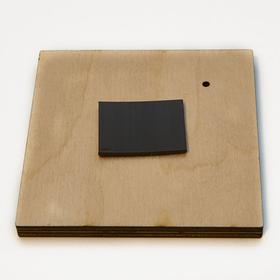 Деревянная заготовка для магнита Квадратная с рисунком №3, обратная сторона