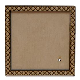 Деревянная заготовка для магнита Квадратная с рисунком №4