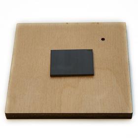 Деревянная заготовка для магнита Квадратная с рисунком №5, обратная сторона