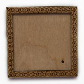 Деревянная заготовка для магнита Квадратная с рисунком №5