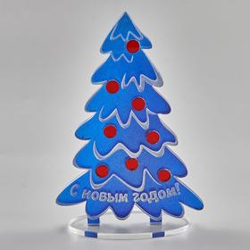 Персональная офисная новогодняя елочка синяя
