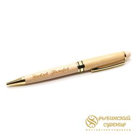 Деревянная ручка из клена, гравировка на ручке и футляре