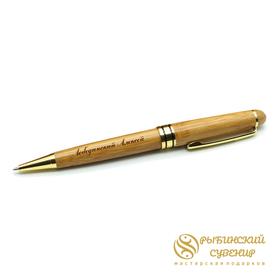 Деревянная ручка из бамбука, гравировка на ручке