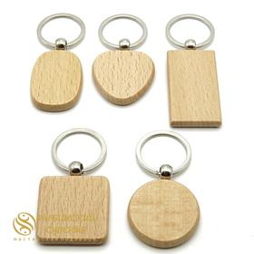 Брелки на ключи из бука с гравировкой
