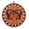 Подвеска знак зодиака Близнецы из красного дерева